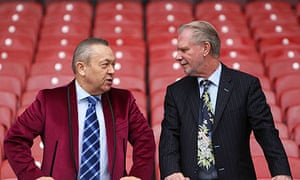 David Sullivan, left, and David Gold purchased West Ham in January