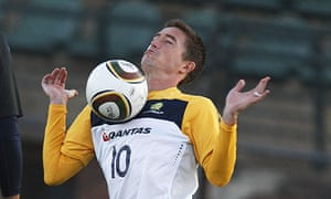 Harry Kewell during an Australia training session at at the Ruimsig Stadium, Johannesburg