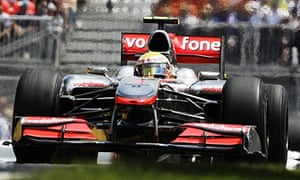 Lewis Hamilton on his way to victory in Montreal.