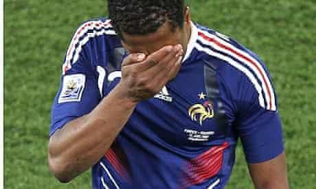 Patrice Evra cries