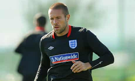 Matthew Upson during an England training session