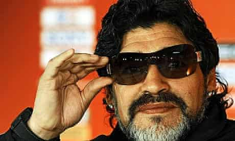 Diego Maradona was in playful mood as he spoke to the media today