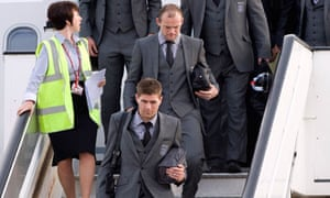 Gerrard, Rooney at Heathrow