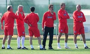 Capello and his Italian staff