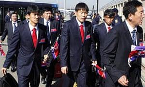 North Korea squad arrive in Johannesburg