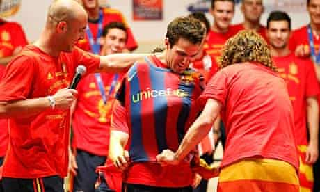 Fabregas Barcelona shirt