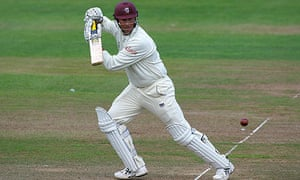Somerset's Marcus Trescothick was out for a duck this morning