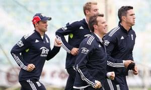 Andrew Strauss, Stuart Broad, Graeme Swann and Kevin Pietersen