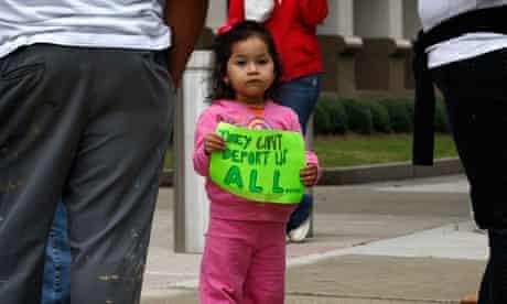Alabama Hispanics protest new immigration law