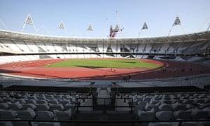Olympic Stadium with complete athletics track