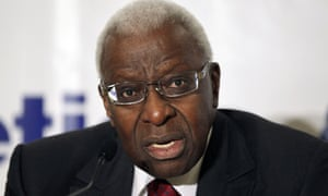 Lamine Diack admits that he was laughing when he learned of the IOC's bribery investigation