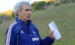 The France coach Raymond Domenech