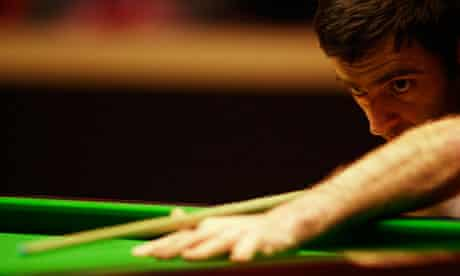 Ronnie O'Sullivan, who has pulled out of an event in Berlin, playing in the Shoot-Out in Blackpool