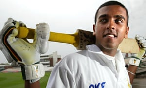 Bilal Shafayat as a promising youngester for Nottinghamshire in 2003