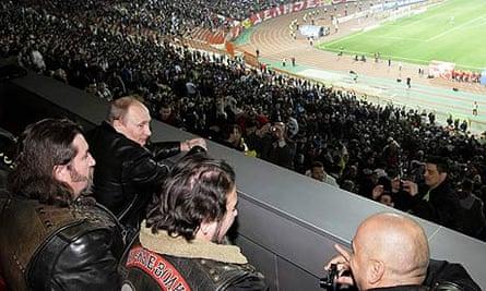 Vladimir Putin and chums take in Red Star Belgrade v Zenit St Petersburg.