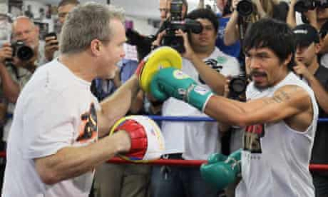 Freddie Roach with Manny Pacquiao at the Wild Card gym