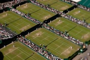 Wimbledon photo book: Aerial view of The All England Lawn Tennis & Croquet Club