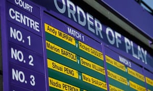 Andy Murray leads the way on Centre Court today