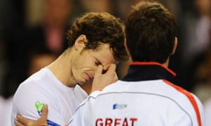 An emotional Andy Murray