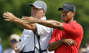 Tiger Woods has split from his caddie Steve Williams, seen here together in March 2011