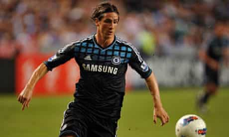 Chelsea's Fernando Torres playing against Kitchee in the Barclays Asia Trophy