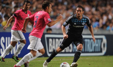 Frank Lampard in action for Chelsea against Kitchee