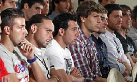 La Liga players listen to strike announcement