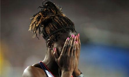 Christine Ohuruogu admitted to being 'broken' after a false start