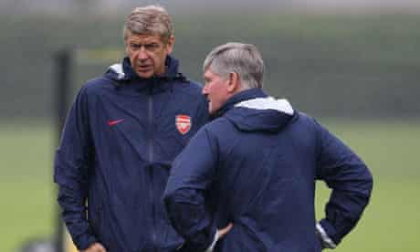 Arsène Wenger and his assistant Pat Rice