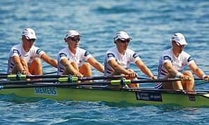 Britain's women's quad rowing team