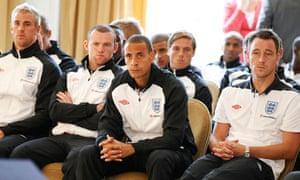 Rio Ferdinand at the England press conference