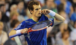 Andy Murray played for Great Britain in their victory over Hungary in the Davis Cup