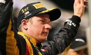 F1 driver Kimi Raikkonen of Lotus in Abu Dhabi