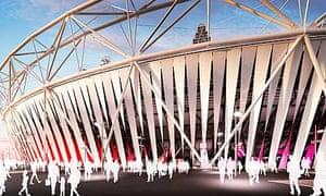 olympic stadium fabric wrap