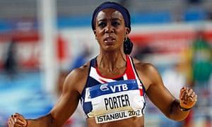 US-born Tiffany Porter of Britain has British mother