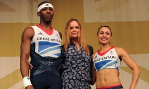 Phillips Idowu, Stella McCartney and Jessica Ennis model the Team GB outfit