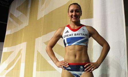 Jessica Ennis in the new British team kit