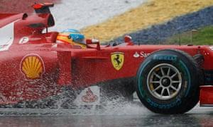Ferrari's Fernando Alonso on his way to winning the Malaysian Grand Prix