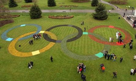 Olympic Rings at Kew Gardens