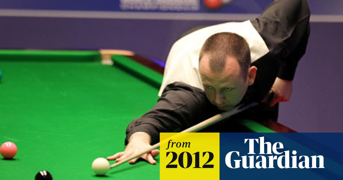 Mark Williams Booed At World Championship After Insulting Crucible Snooker The Guardian - How To Mark Out A Pool Table
