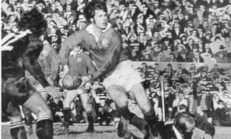 Barry John, centre, in action during the British Lions' tour of New Zealand in 1971
