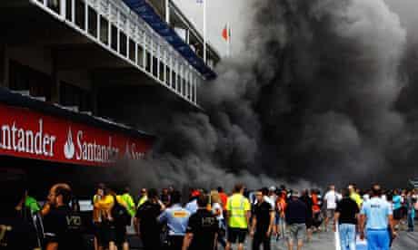 Fire in Williams garage