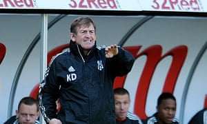 Kenny Dalglish, Liverpool's manager, has given his end-of-season review to John W Henry in Boston