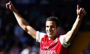 Arsène Wenger would rather have Rob van Persie as a schemer rather than a spearhead
