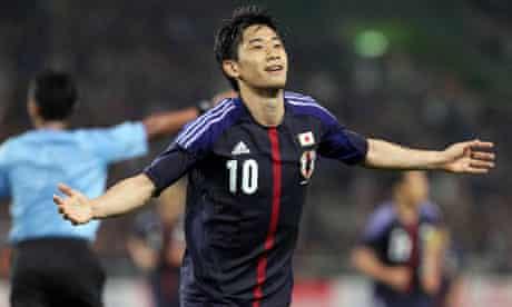 Japan's Shinji Kagawa is a target for Manchester United
