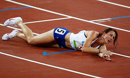 Kelly Sotherton, at the Beijing Games, has announced her retirement from athletics