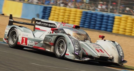 audi is first manufacturer to take le mans 24 hours race with hybrid sport the guardian. Black Bedroom Furniture Sets. Home Design Ideas