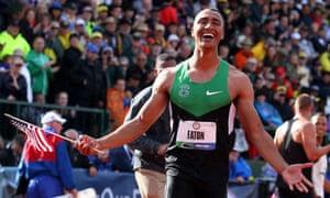 Ashton Eaton breaks world record