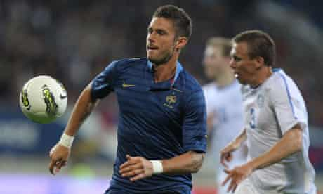 France's forward Olivier Giroud, left, was signed by Arsenal
