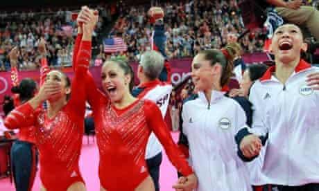 The USA artistic women's gymnastics team